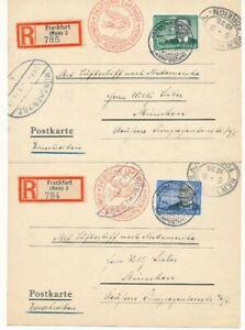 538/39x - 1. Nordamerikafahrt - Auflieferung Frankfurt nach New York - München