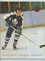 Vintage NHL Hockey Program 1972 Philadelphia Flyers Toronto Maple Leafs Keon