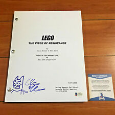 CHRIS MILLER SIGNED THE LEGO MOVIE FULL 111 PAGE MOVIE SCRIPT w/ BECKETT BAS COA