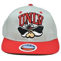 NCAA Nevada Las Vegas Runnin Rebels UNLV Gray Eclipse Snapback Flat Bill Hat Cap