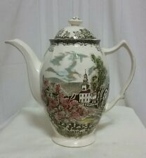 Johnson Brothers THE FRIENDLY VILLAGE (MADE IN ENGLAND) Coffee Pot 6 Cup 7 3/8""