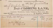 Loring Lane Manufacturers and Wholesale Dealers in Crockery, Glassware,...1881