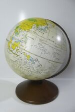 Vintage Repogle Pressed Tin Metal World Globe The Revere 6 Inch Made In Usa
