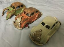 3- Hubley Cast Iron 1930's Chrysler Airflows