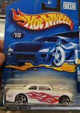2001 Hot Wheels #117 White Shoe Box with PR5 Wheels