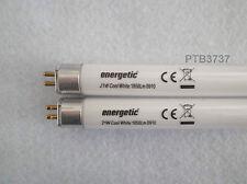Cantidad de 2!! enérgico lámparas fluorescentes T5 blanco frío 21W 863MM pin a pin
