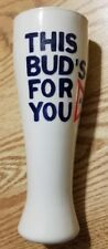 """Vintage """"This Bud's For You"""" Embossed 9in"""" Ceramic Stein New Rare"""