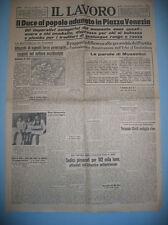 IL LAVORO  6/5/1943   Il Duce al popolo adunato in Piazza Venezia