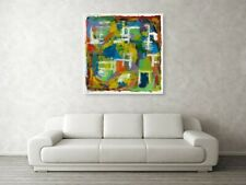 "Modern Art,Hand Painted WallDecor,Abstract Painting ,Acrylic Canvas ""BY THE WAY"""