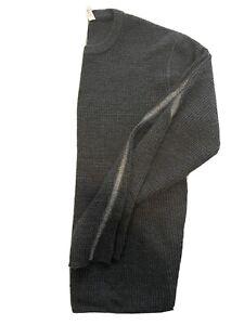 Lululemon Pullover Sweater Jumper Mens L Gray Merino Wool Thick Crew Neck