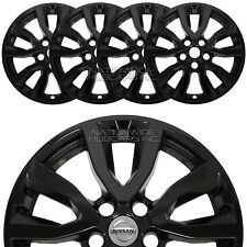 "fit Nissan Rogue SV 2017-20 Black 17"" Wheel Skins Hub Caps Full Alloy Rim Covers"