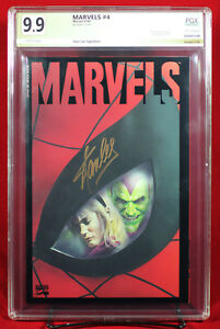 MARVELS #4 (1994 Marvel) PGX 9.9 MT MINT signed STAN LEE. ONE OF A KIND!!! +CGC!