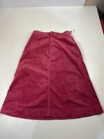 BNWT WOMENS UNIQLO UK 12 PINK SMART CASUAL WINTER CORDUROY A-LINE MIDI SKIRT