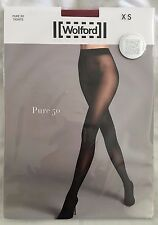 Wolford Womens Pure 50 Tights Holly Berry Size X Small Style 14434