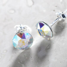 925 Sterling Silver Ear Studs Aurore Boreale Xirius 8mm Crystals from Swarovski®