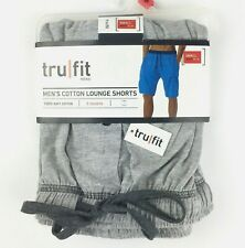 Tru Fit Men's Lounge Shorts Size Small 28-30 Gray Cotton  With Pockets  NEW