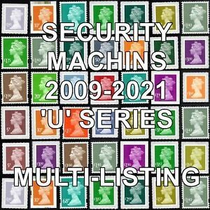 2009+  Machin Definitives U Series Security Multiple Listing Unmounted Mint MNH