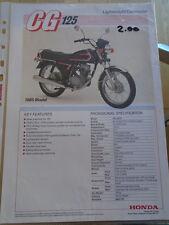 Honda CG 125 Motorcycle brochure Apr 1985