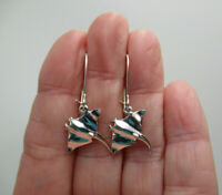 Manta Sting Ray Earrings Sea Beach Nautical Fish Swim Hooks 925 Sterling Silver