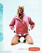 PUBLICITE ADVERTISING 125  2002  OXBOW vetements sport veste