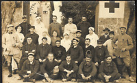 RED CROSS CORP. AMBULANCE MEDAL RECIPIENTS WW1 SOLDIERS WAR POSTCARD RPPC