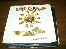 "Eric Clapton-Forever Man-Too Bad-7"" 45-Warner Bros-Pic Sleeve-Vinyl Record-VG+"