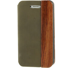 IPHONE 4 Design Leather Look Flip Case Cover Shell Bumper Bag