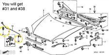 Genuine OEM Honda 2001-2005 Civic 2/4 dr Hood Prop Rod Holder kit 2007-2011 CRV