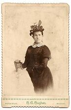 Cabinet Card, Stern Woman, Poplar Bluff, Missouri,Order of the Eastern Star book