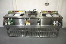 More details for 2 metre double cocktail bar unit with twin ice well and shared bar sink