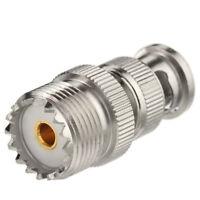 BNC-UHF adapter BNC Plug Male to UHF SO-239 Female straight For CB Walkie Talkie