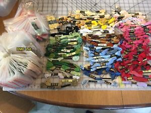 Huge Lot of DMC Embroidery Thread Floss New And Used Skeins