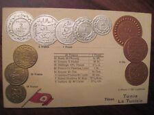 CPA AK postkarte carte postale Tunisie Tunis monnaie pièce coins francs colonie