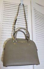 Michael Kors womens Medium Dome CINDY Satchel Saffiano Handbag Bag Dark Dune NWT