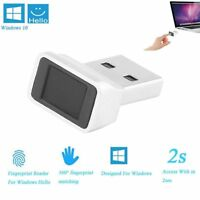 Security Key Mini USB Fingerprint Reader Smart Touch ID for Laptop PC Windows 10