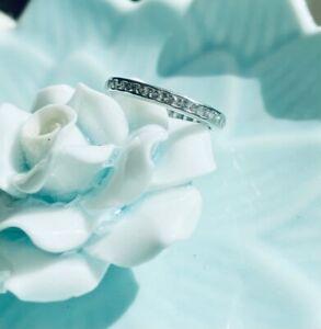 Tiffany & Co. Platinum Vintage Diamond Eternity Band Wedding Engagement Ring