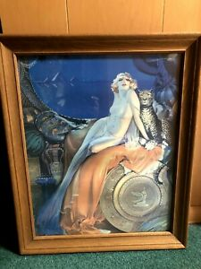Vintage Rolf Armstrong Iconic Cleopatra Print Original Framed Art Deco Nude