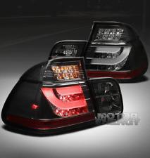99 00 01 BMW E46 3-SERIES SEDAN 4DR LED BRAKE TAIL LIGHT SMOKE +STRIP LEFT+RIGHT