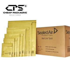 Genuine Mail Lite Gold Bubble Padded Envelopes by CPS - Pack of 25