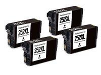 4Pk Black HY BK 252XLT252XL Ink Cartridge for Epson WorkForce WF 7610 3640 7110