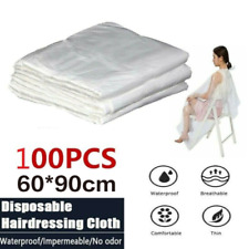 100pc Disposable Hair Cutting Cape Gown Stylist Apron Home Hairdressing Kitchen