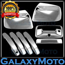 15-16 GMC Canyon Triple Chrome Mirror+4 Door Handle+Tailgate w/Camera Hole Cover