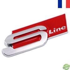 LOGO AUDI S LINE ROUGE - emblème COFFRE badge SLINE AUDI A1 A3 A4 B6... Neuf