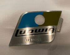 1970's VINTAGE LUDWIG BLUE & OLIVE BADGE 1765111, NOS, UNUSED, CHECK IT OUT!