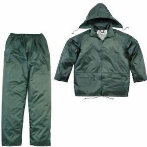 Delta Plus Waterproof Rain Suit Set PVC Jacket Trousers Overalls Hooded (EN400)