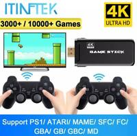 ITINFTEK Wireless Video Game Console 4K HD Display on TV Projector Monitor Class