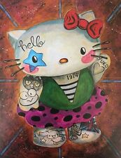 LEX outsider pop SuRReal tattoo Print gothic Hello Kitty iNked Sanrio painting