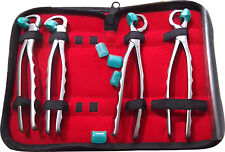 Dental Tooth Extracting Forceps Kit Pliers Oral Surgery Standard Series 4P Set