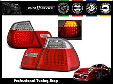 FANALI FARI POSTERIORI LDBM07 BMW E46 1998 1999 2000 2001 RED WHITE LED