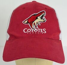 Phoenix Coyotes NHL Hockey Dodge Ram Red White Mesh Baseball Cap Hat Adjustable